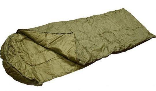 Спальный мешок Mil-Tec Steppdecken Olive (до-5) с чехлом  (14104001)