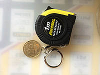 Рулетка-брелок 1м black star