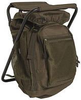 Туристичний (рибальський) стілець рюкзак Sturm Mil-Tec olive 20 л (14059001), США