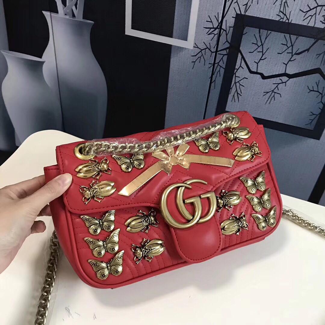 b4e149299d6e Кожаная сумка с металлическими украшениями Gucci - Люкс реплики брендовых  сумок, обуви в Киеве