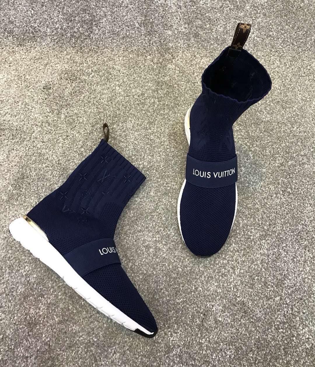 a9ccee23ccce Высокие кроссовки из ткани Louis Vuitton - Люкс реплики брендовых сумок,  обуви в Киеве
