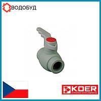 KOER PPR КРАН ШАРОВЫЙ   (ручка) для горячей воды 25 для пайки полипропиленовых труб