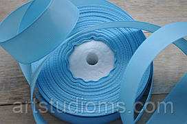 Репсовая лента ширина 2,5см (25мм). Цвет голубой