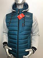 Мужская куртка Reebok трансформер с отстежными трикотажными рукавами копия