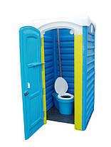 Дарим 148 грн на доставку. Биотуалет торфяной кабина, туалет унитаз дачный с баком 40 литров, фото 3