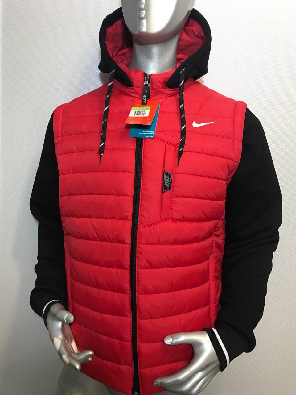 Мужская куртка Reebok полубатал с отстегивающимися трикотажными рукавами копия