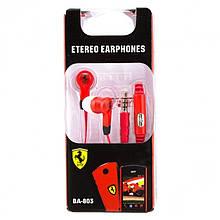 Наушники Ferrari BA-803 с микрофоном