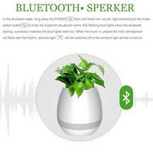 Музыкальный цветочный горшок TOKQI K3 - Bluetooth, световое сопровождение, фото 3
