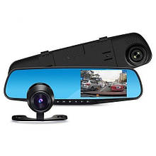 Зеркало DVR регистратор с выносной камерой L9000 Экран 4,2 дюйма