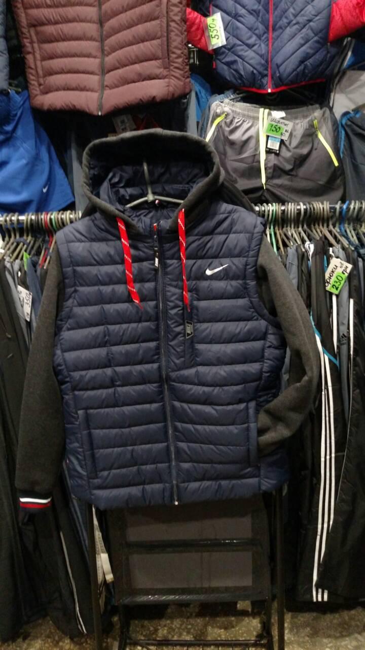 Мужская куртка Reebok большая с отстегивающимися трикотажными рукавами копия