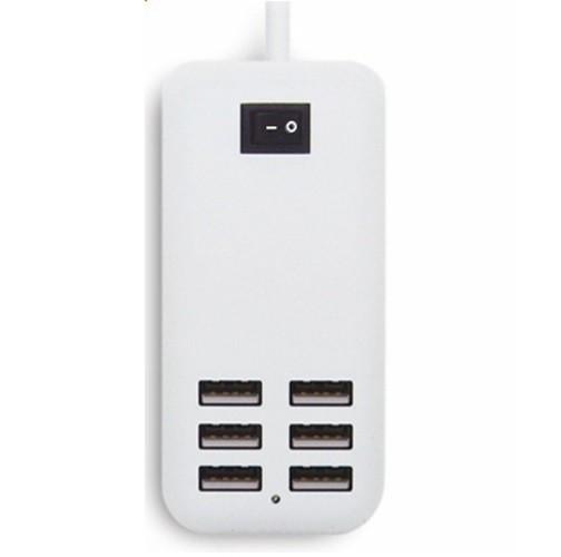 Зарядное устройство на 6 USB портов с кнопкой включеня 25W 5V 5A