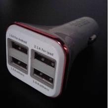 Зарядное устройство в прикуриватель 4 USB KO-23