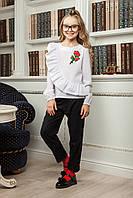 Блузка с розой для девочек, фото 1
