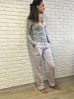 Домашний костюм женский S M L XL, сатин хлопок