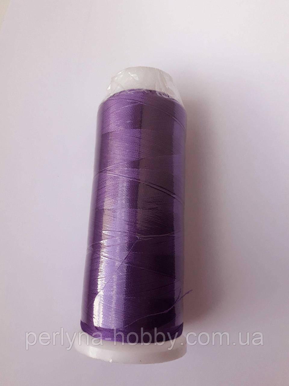 Нитки для машинної вишики 100% віскоза (100% rayon) 3000 ярдів, № 487, фіолетовий