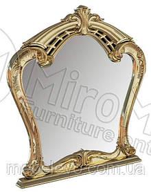 Ева Зеркало  1110х1010х80мм белый глянец + золото   Миро-Марк