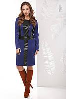 Женское платье из эко-кожи Клод-1 комбинированное с трикотажем Джерси, фото 1