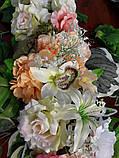 Гирлянда из искусственных цветов в нежных весенних цветах., фото 4