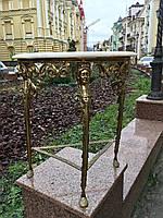 Антикварный бронзовый стол подставка журнальный старинный столик