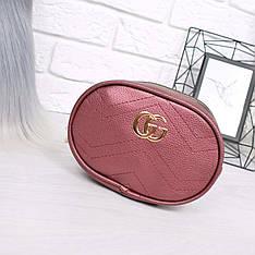 Женская сумка бананка Gu бордо 1025, сумка через плечо