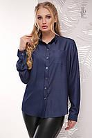 Блузы больших размеров Стрит-Деним-1 с длинным рукавом