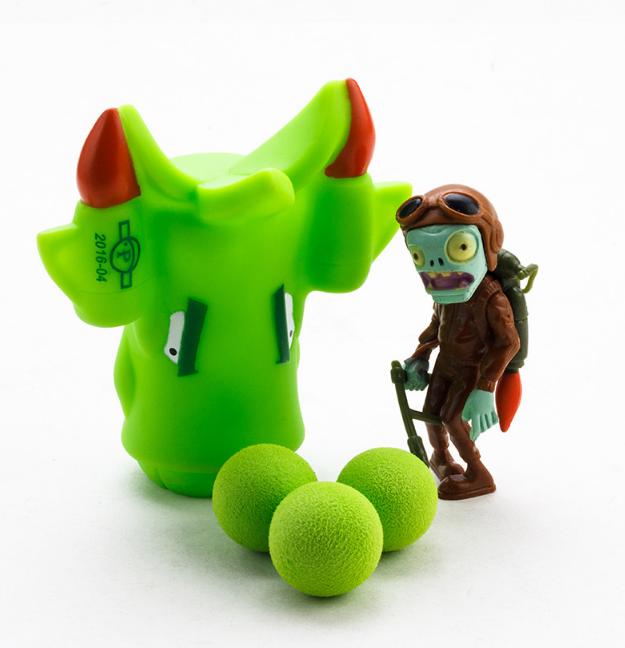 Игрушка Растения против зомби Самолёт зелёный Plants vs zombies