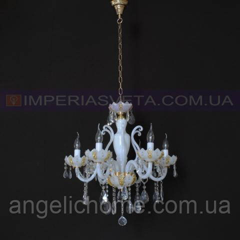 Люстра со свечами хрустальная TINKO  шестиламповая LUX-413303