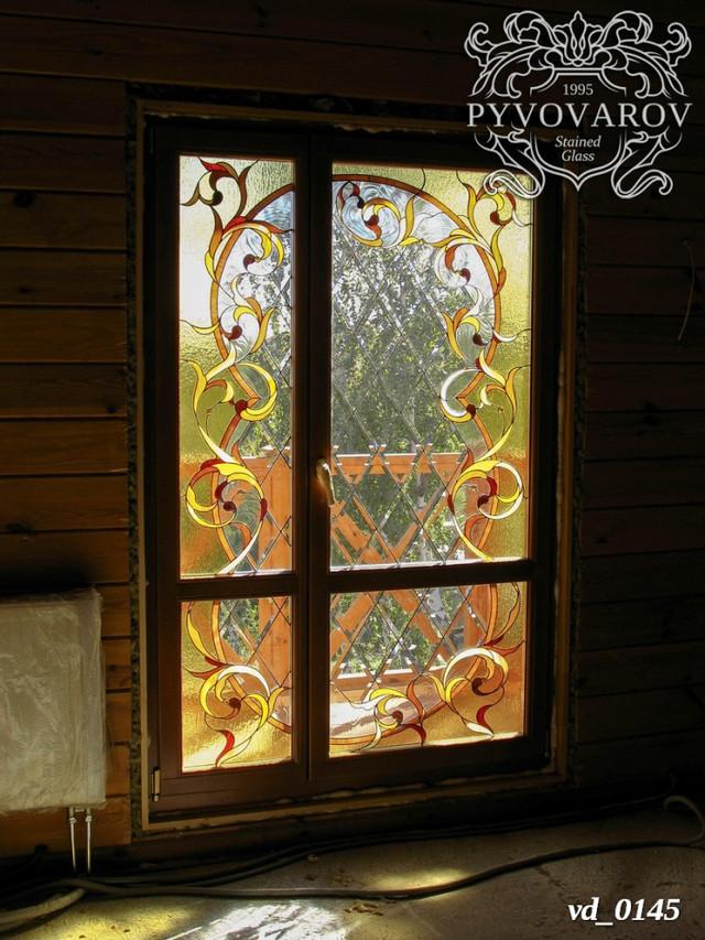 Витражные двери на балкон