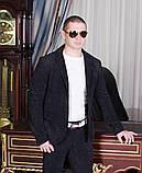 Стильный мужскойтемный вильветовый костюм в деловом стиле (р.42,50), фото 5