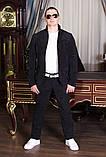 Стильный мужскойтемный вильветовый костюм в деловом стиле (р.42,50), фото 7