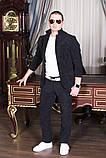 Стильный мужскойтемный вильветовый костюм в деловом стиле (р.42,50), фото 8