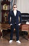 Стильный мужскойтемный вильветовый костюм в деловом стиле (р.42,50), фото 3