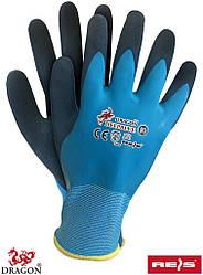Рабочие перчатки покрытые латексом REIS Польша (перчатки защитные) DEEPBLUE NG
