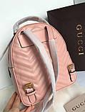 Рюкзак Гучи Marmont натуральна шкіра колір рожевий, фото 6