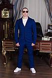 Мужской класический синий костюм в клетку шикарная модель для делового стиля и выпускного (р.44-48), фото 3