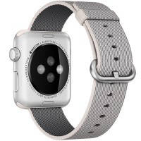 Нейлоновый ремешок Woven Nylon Pearl для Apple Watch 38mm Series 1/2/3