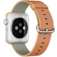 Нейлоновый ремешок Woven Nylon Gold/Red для Apple Watch 42mm Series 1/2/3