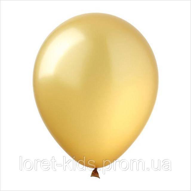 """Воздушные шары 10"""" металлик золотой (gold) 100 шт. ТМ Арт Шоу"""