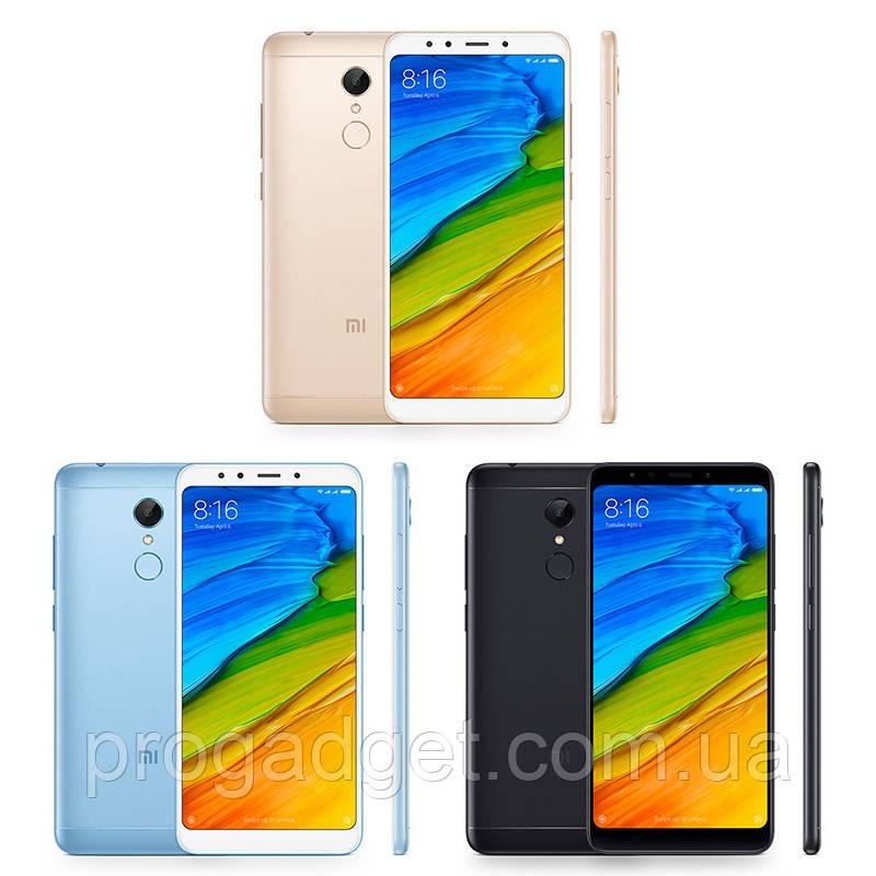 "Xiaomi Redmi 5 3/32 blue - голубой Безрамочный смартфон 5.7"" HD+, Snapdragon 450 official ROM! + Подарок"