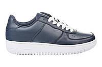 Кожанные кроссовки,т.синие.41-45, фото 1