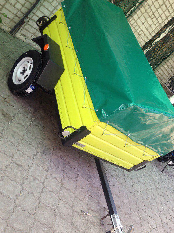 Одноосный прицеп для легкового автомобиля ЛЕВ-21 (2,1*1,3*0,51м)