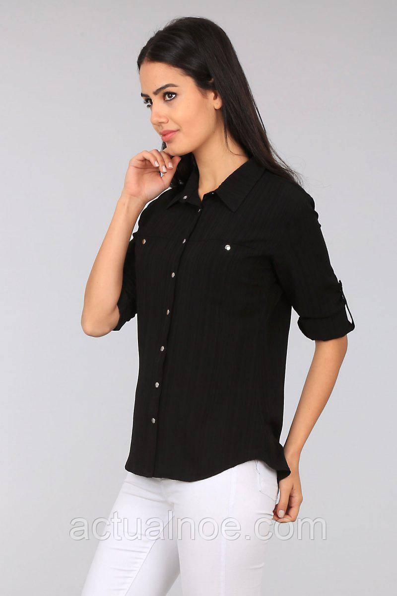 e2cce1e69833 Блузка рубашка женская классическая чёрная: продажа, цена в Харькове ...