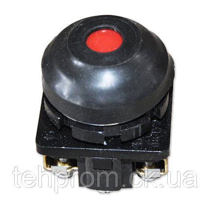 Кнопка КЕ 081 красная, черная, фото 2