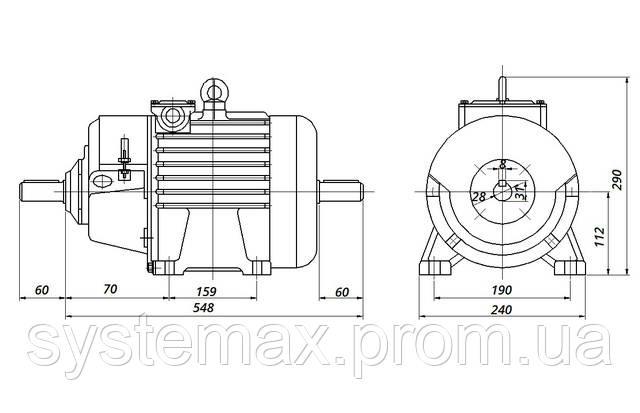МТН 012-6 - IM1002 комбинированный (габаритные и установочные размеры)