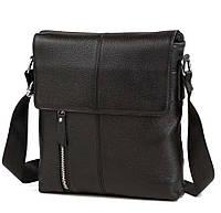 Мужская черная сумка через плечо A25-238, фото 1