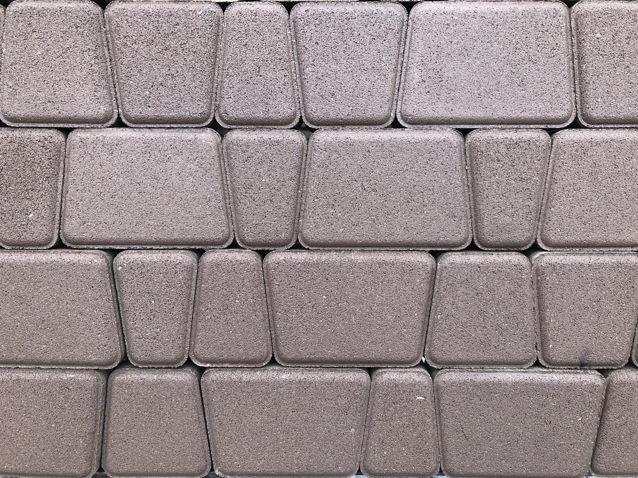 Тротуарная плитка Римский камень  стенд 8-11