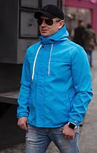 Стильная мужская куртка-ветровкаиз турецкой плащевки на трикотаже (р.44,46,48,50)