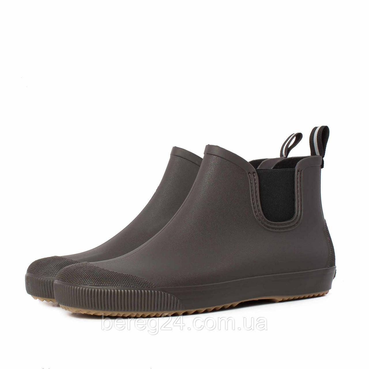 Мужские ботинки NordMan BEAT резиновые с эластичной вставкой коричневые размер 41
