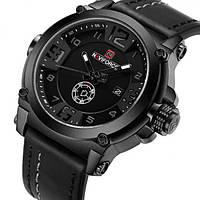 Мужские классические наручные часы Naviforce Plaza Black