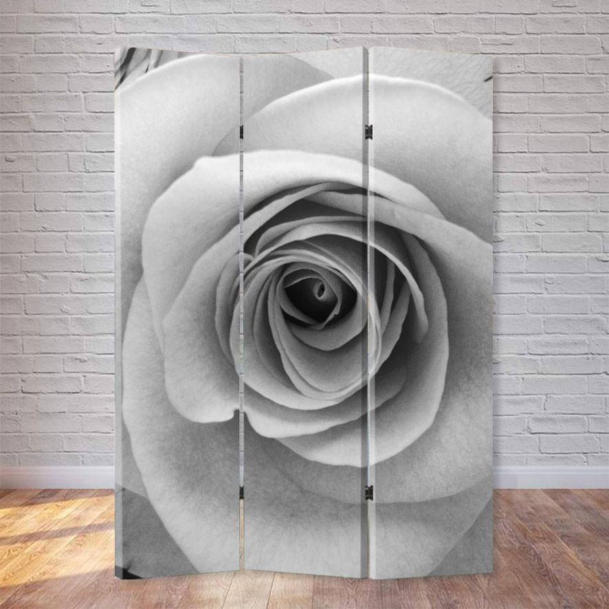 """Ширма """"Черно-белая роза"""""""